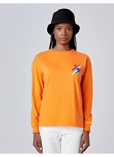 Huxel Tişört Oranj